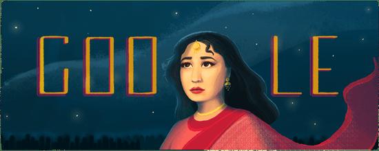 Meena Kumari 85th Birthday Google Doodle