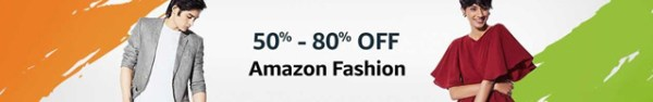 Amazon India Freedom Sale August 2018 - Fashion