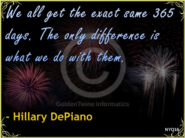 New Year Quote by Hillary DePiano - NYQ16