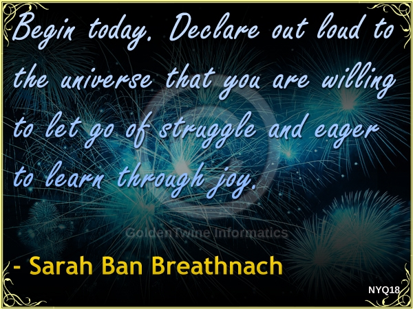 New Year Quote by Sarah Ban Breathnach - NYQ18
