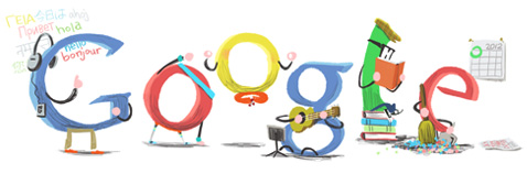 New Year's Day 2012 Google Doodle