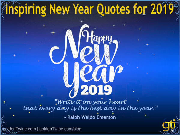 Ten Inspiring New Year Quotes for 2019