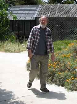 Rod Wallbank in the Native Garden