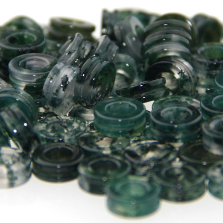Wide fluted moss agate