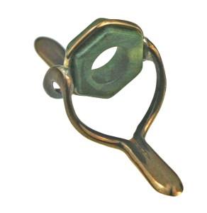 Light Moss Hexagate Bronzed