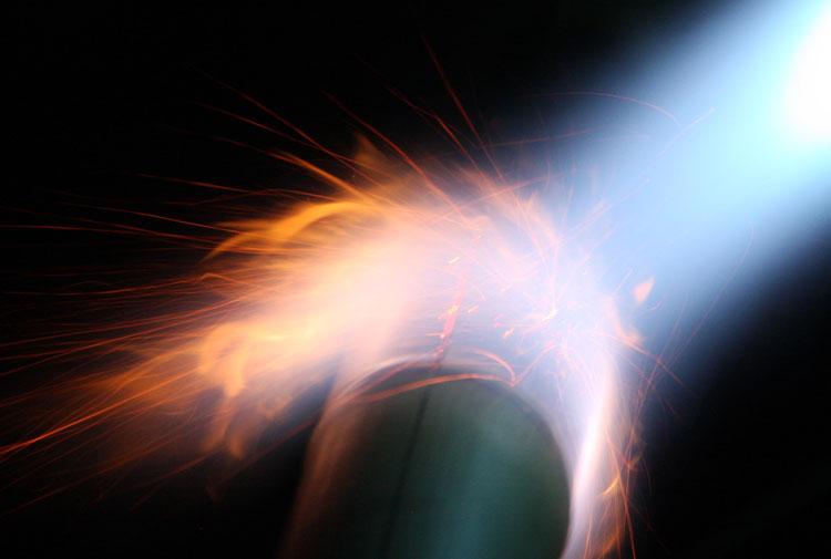 Bamboo flaming torch