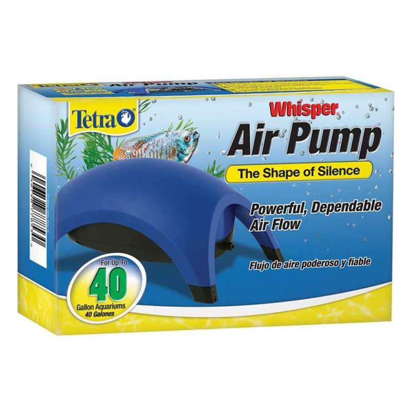 whisper air pump fish tank
