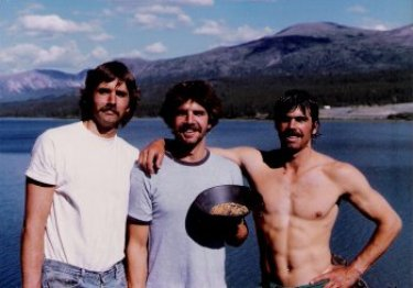 Dave, Brian and Jim with gold