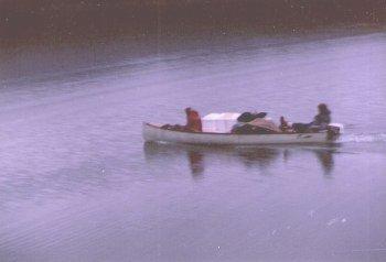Loaded canoe