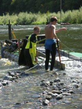 Tending the dredge