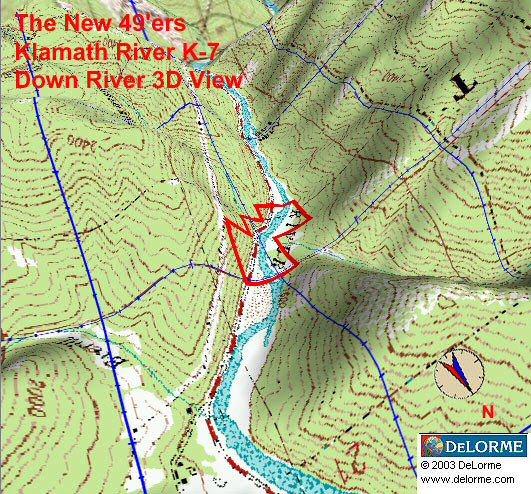 K-7 - Kinsman Creek Claims - Down River View