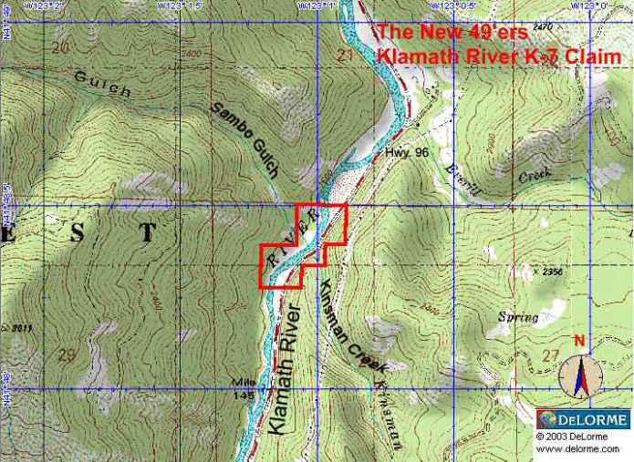 K-7 - Kinsman Creek Claims - Topographical Map