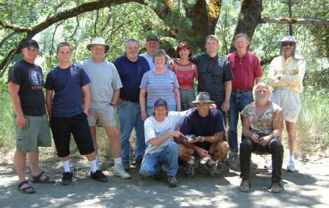 Week-long Group Dredging participants