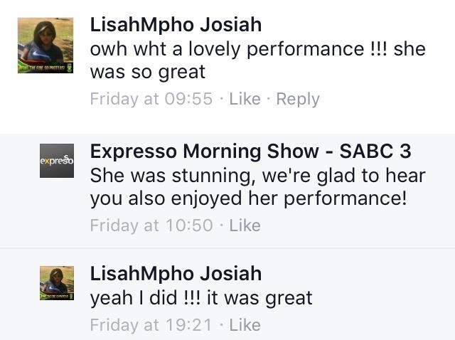 #ThisIsMyFire LisaMpho #ExpressoShow