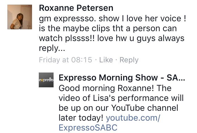 #ThisIsMyFire Roxanne #ExpressoShow