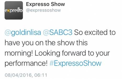 #ThisIsMyFire Expresso Show