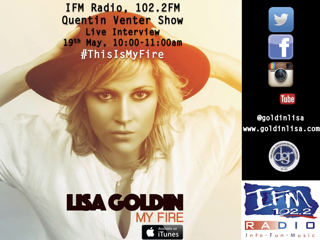IFM Radio, 19th May - Lisa Goldin