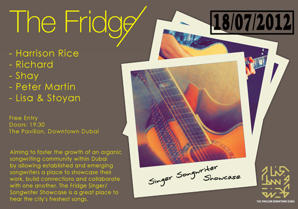 The Fridge Singer Songwriters 2012, Dubai