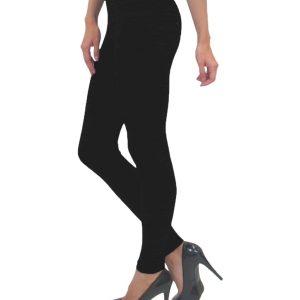 High Waisted Black Leggings, High Waisted Black Leggings Product Image Side View on Model
