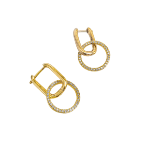 Rectangle Gold Hoops, gold hoop product picture