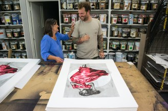 'Serenity' - 15 layer silkscreen, 2018 - Produced for Graffiti Prints