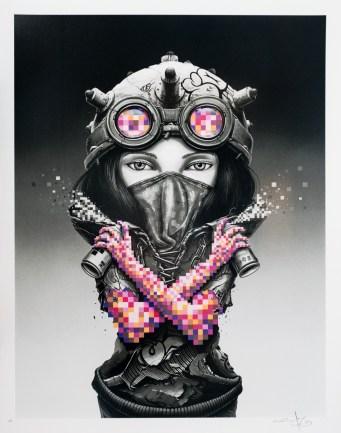 'Kunoichi' - Pez, 20 layer silkscreen - Produced for Graffiti Prints, 2018