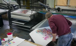 Dale vN Marshall silkscreen proofing