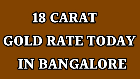 18 carat gold price in bangalore today