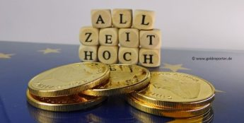 Gold, Goldpreis, Allzeithoch, Rekord, Euro (Foto: Goldreporter)