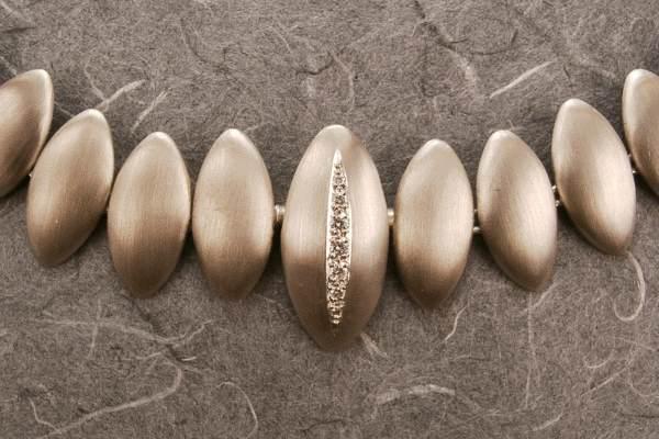 Collier 585/000 Weißgold mit austauschbarem Schloß