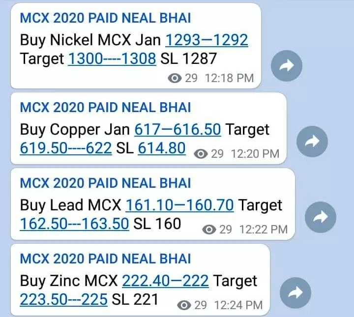 MCX Nickel, Copper and Zinc All Target Hit – Neal Bhai via @goldsilverrepor