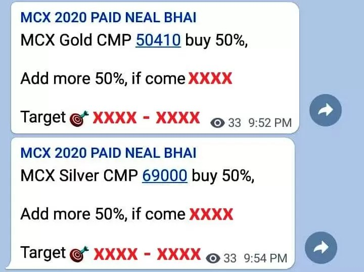 Yesterday Gold MCX Tips 50410 To 50865 And Silver 69000 To 69675 – Neal Bhai via @goldsilverrepor