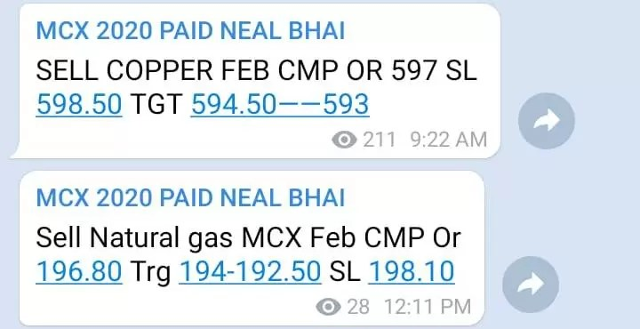 Copper MCX Tips Today