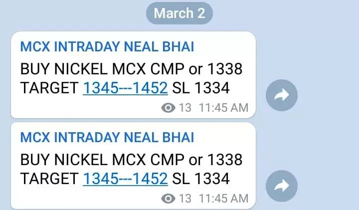 Nickel MCX Tips Today : All Target Price Hit High 1352.60 via @goldsilverrepor