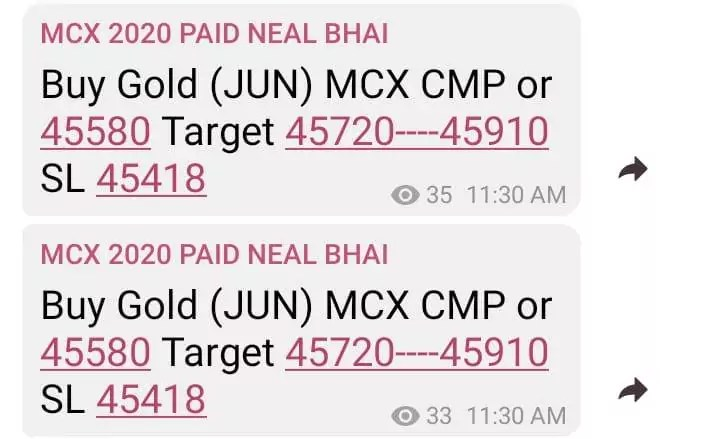 Gold MCX Tips Today