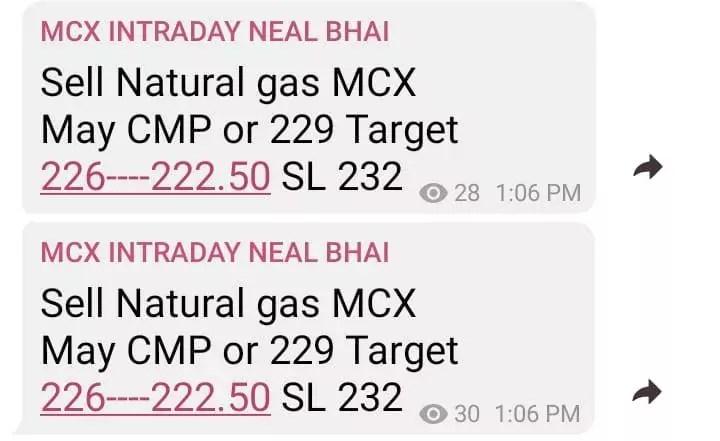 MCX Natural Gas