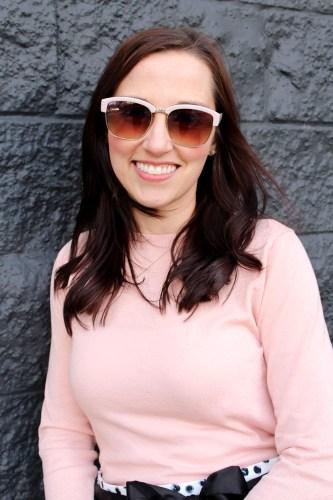target glasses closeup