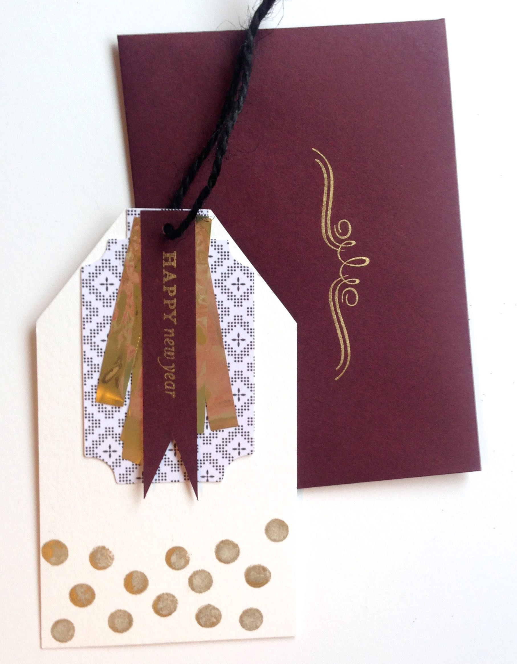 diy new year cards  gold standard workshop