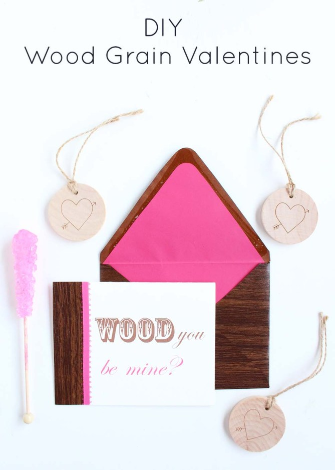 Wood Grain Valentines by Gold Standard Workshop