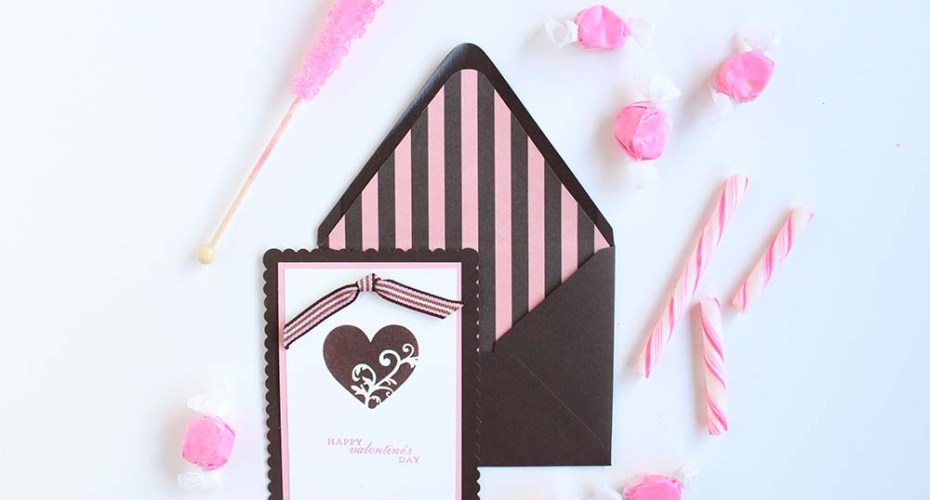 Make your own Valentines with rubber stamps and layered paper! From Gold Standard Workshop
