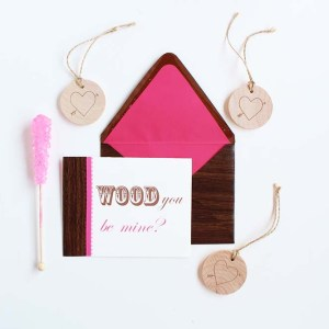 DIY Wood Grain Valentines by Gold Standard Workshop
