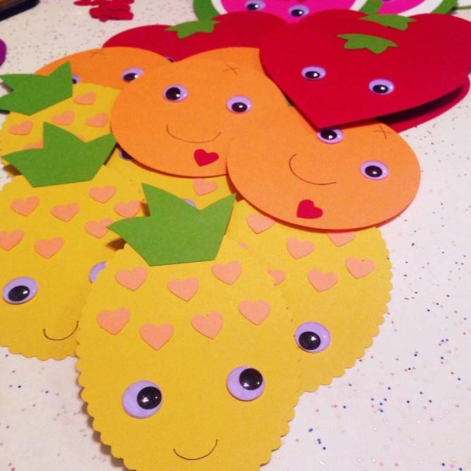 DIY Fruit Valentines Kit by Paper Source. See more at Gold Standard Workshop