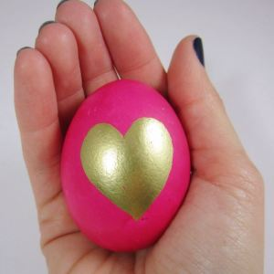 DIY Painted Easter Egg Pink 26