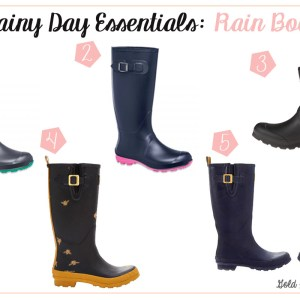 Rainy Day Essentials Rain Boots