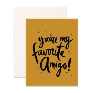 fox and fallow favorite amigo greeting card