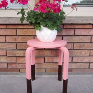Painted Stool After Picture