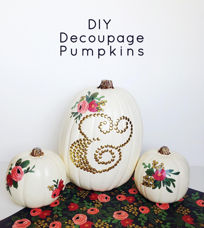 No Carve Decoupage Pumpkins , Gold Standard Workshop