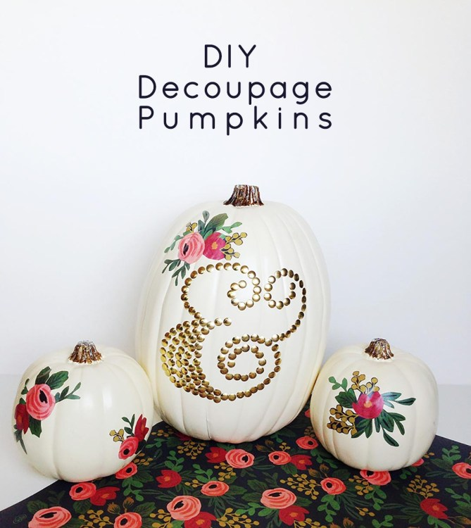DIY Decoupage Pumpkins: Gold Standard Workshop