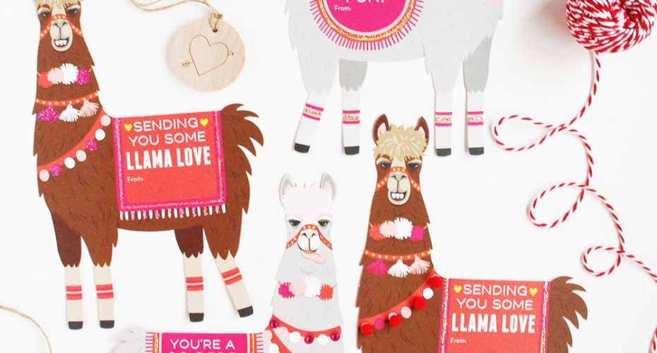 DIY Valentines: Paper Source Llama Love Kit