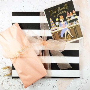 Wrap It Wednesday: Black and White Stripes by Gold Standard Workshop